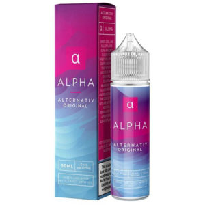 Alfa 50ml Eliquid Shortfill Pudele ar kastīti Marina Vape Alternativ