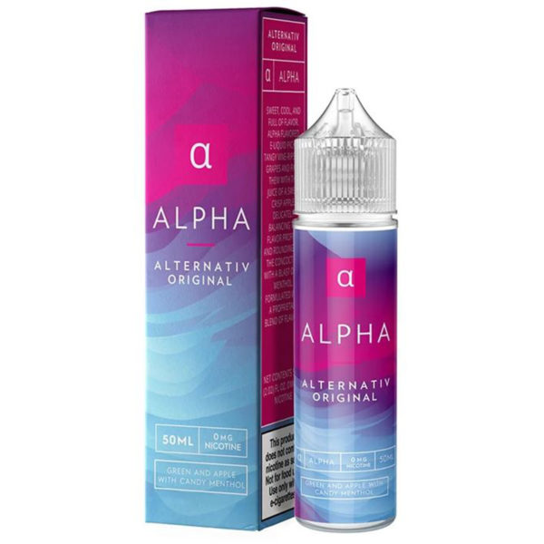 Alpha 50ml Eliquid Shortfill Bottle With Box By Marina Vape Alternativ