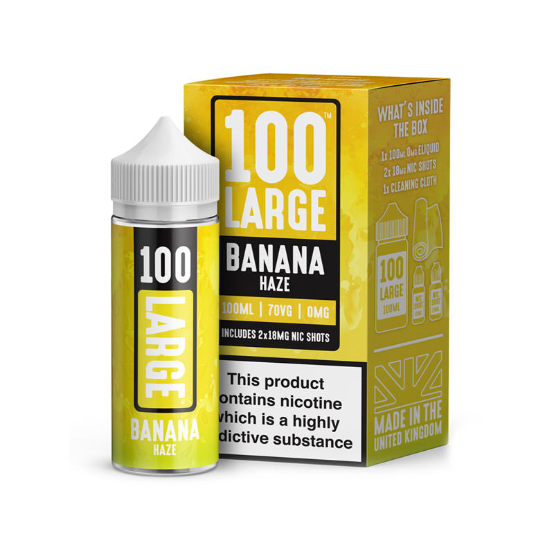 Banana Haze 100ml Eliquid Shortfill By 100 Large Juice