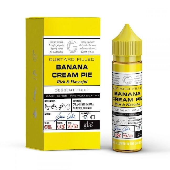 Basix Series Banana Cream Pie By Glas Vapor E Liquid 60ml 700x