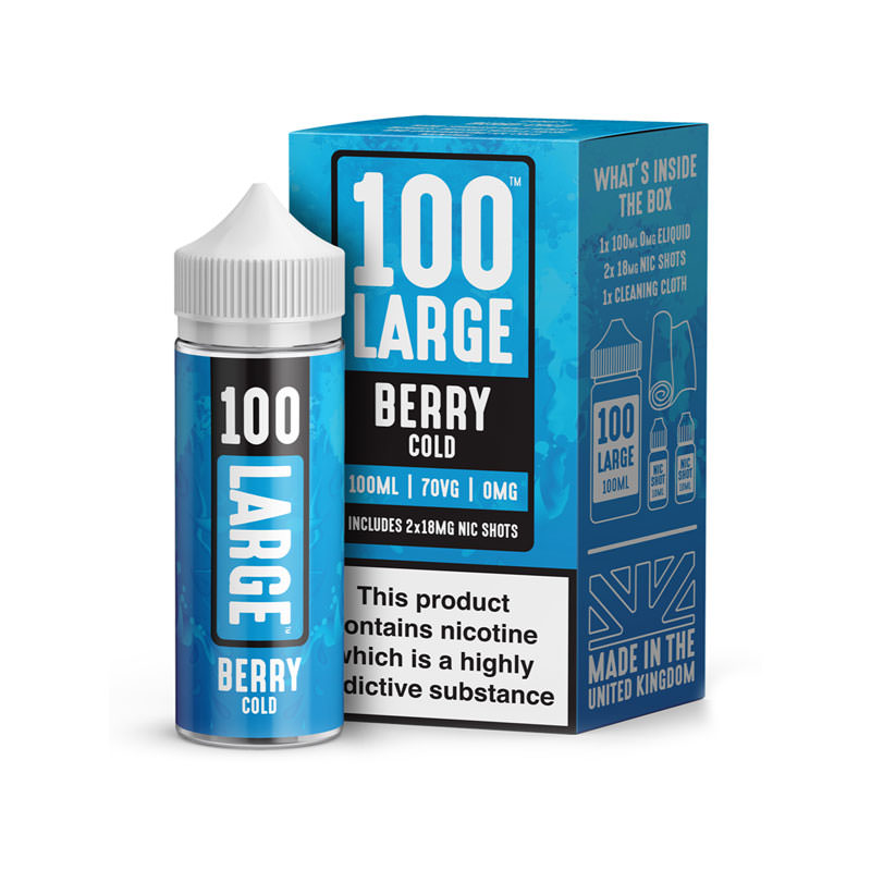 Berry Cold 100ml Elikid Shortfill By 100 Large Juice