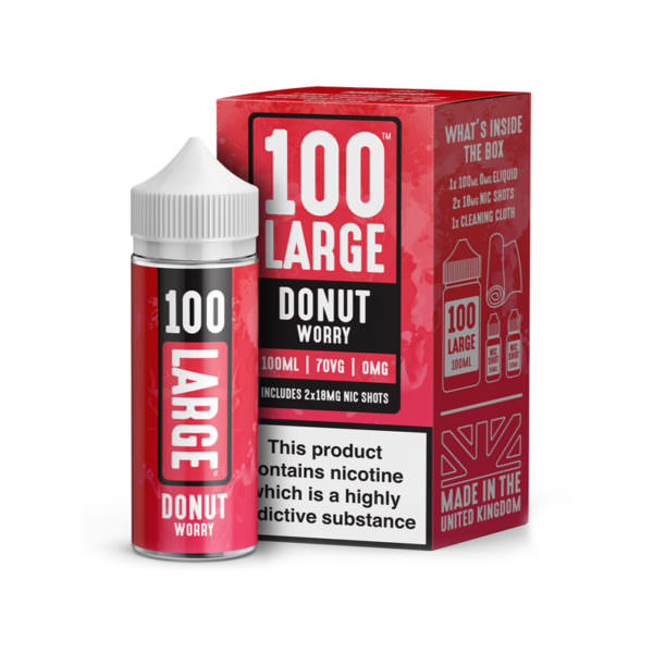 Donut Worry 100ml Eliquid Shortfill By 100 Large Juice