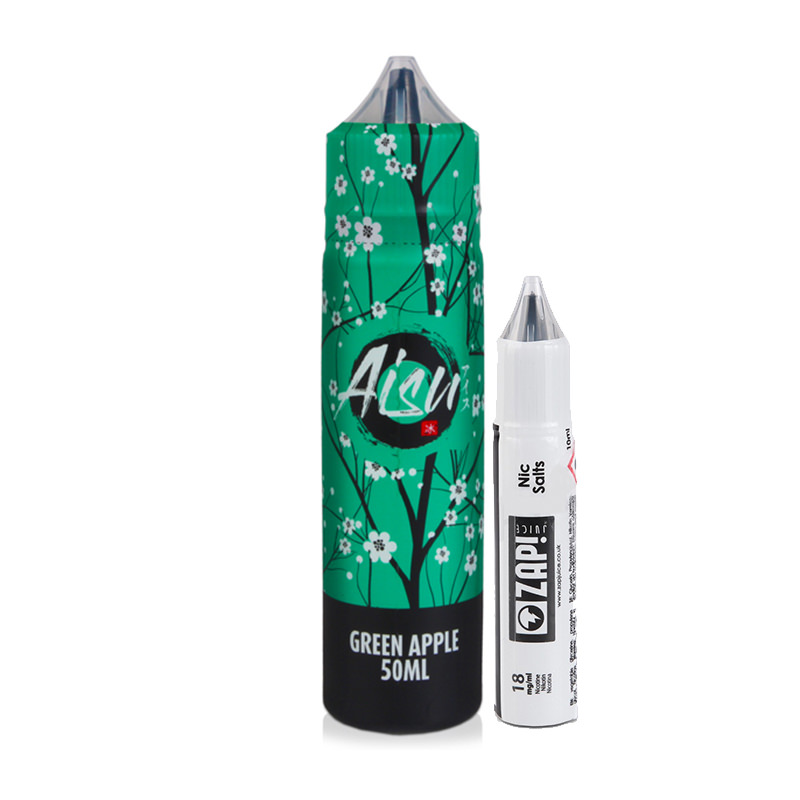 Aisu Green Apple 50ml Eliquid Shortfill Av Zap