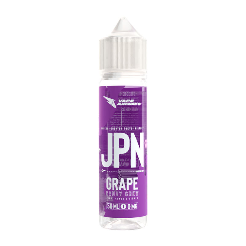 Jap Grape Candy Chew 50ml Eliquid Shortfill Bottles By Vape Airways