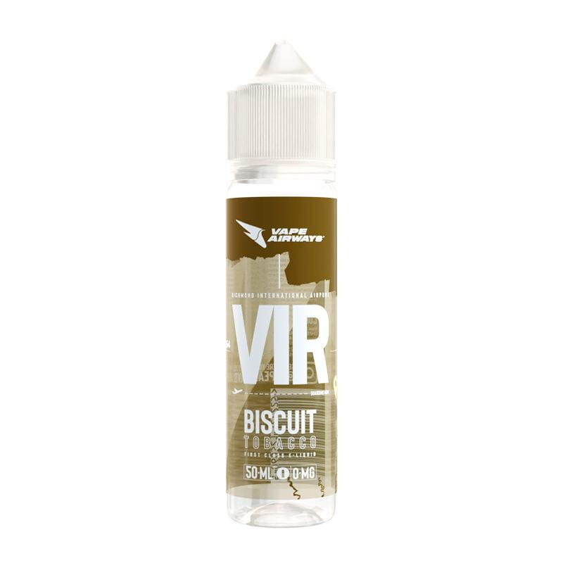 Vir Biscuit Tobacco 50ml Eliquid Shortfill Bottles By Vape Airways