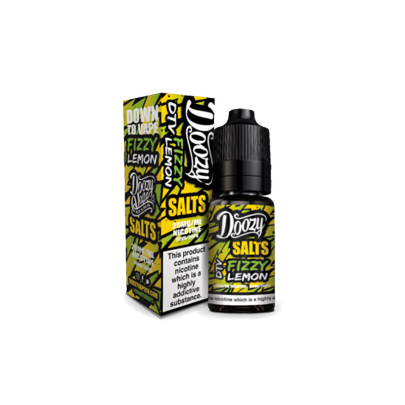 Fizzy Lemon 10ml Nicotine Salt Eliquid By Doozy Vape Salts