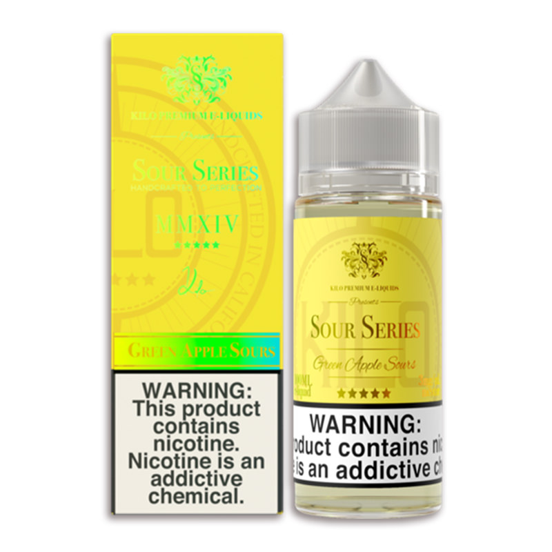 Green Apple Sours 100ml Eliquid Shortfill par Kilo Série Sour