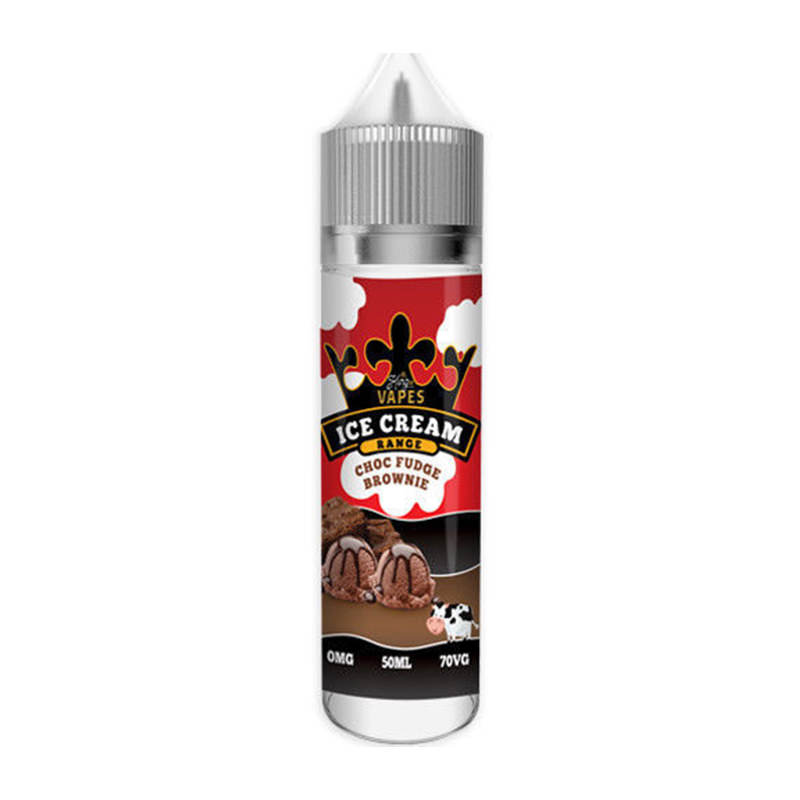 Choc Fudge Brownie 50ml Eliquid Shortfills By King Of Vapes Ice Cream Range
