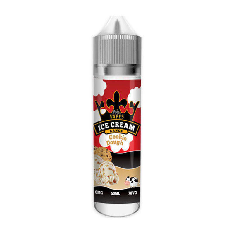 Pâte À Biscuits 50ml Eliquid Shortfills Par King Of Vapes Ice Cream Range