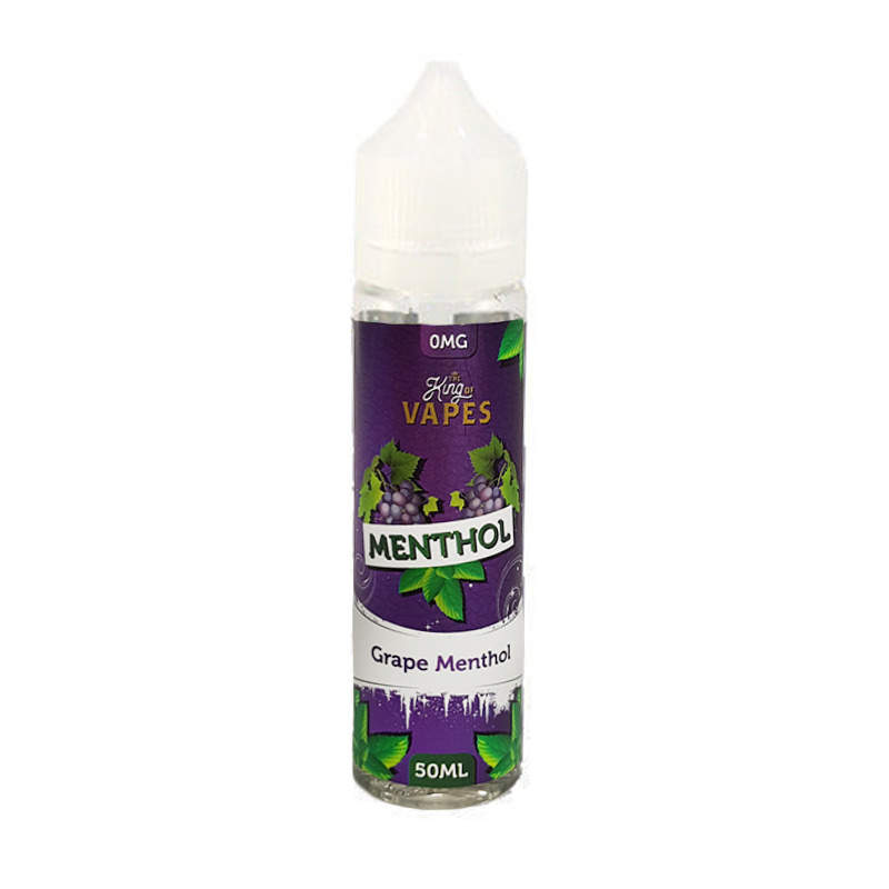 Mentol de uva 50ml Eliquid Shortfill By The King Of Vapes Rango de mentol