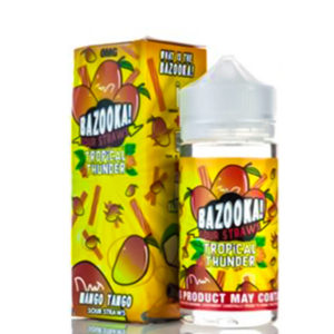 Mango Tango Sour Straws Tropical Thunder 100ml Eliquid Shortfills By Bazooka Sour Straws