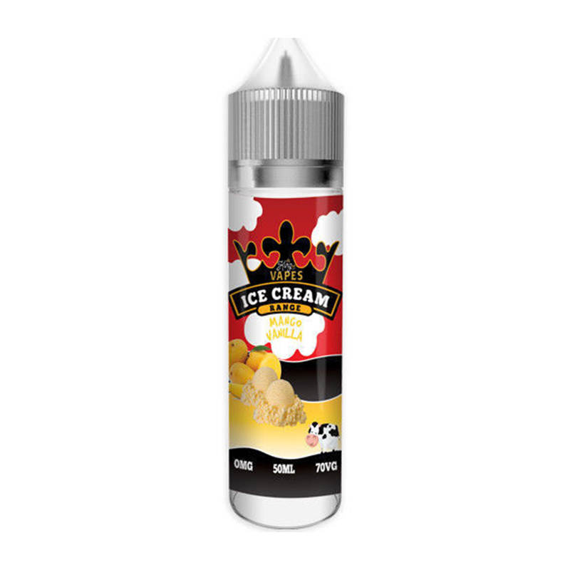 Mango Vanilla 50ml Eliquid Shortfills By King Of Vapes Ice Cream Range
