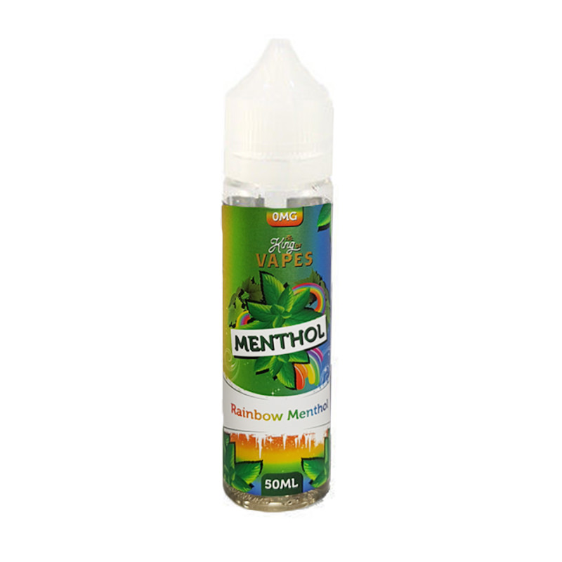 Rainbow Menthol 50ml Eliquid Shortfill By The King Of Vapes Menthol svið