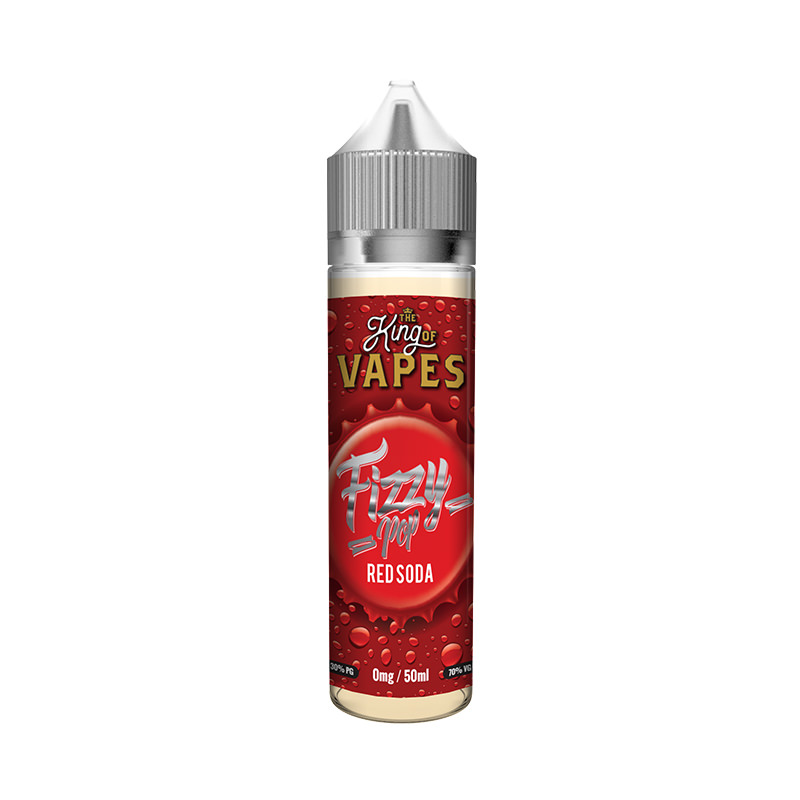 Red Soda 50ml Eliquid Shortfills By Fizzy Pop King Of Vapes