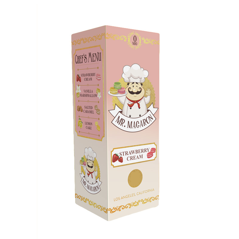 Strawberry Cream 100ml Eliquid Shortfill par Mr Macaron