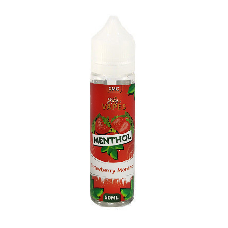 Erdbeer Menthol 50ml Eliquid Shortfill By The King Of VapeMenthol-Bereich