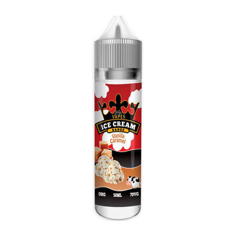 Caramel à la vanille 50ml Eliquid Shortfills Par King Of Vapes Ice Cream Range