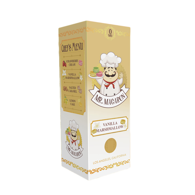 Vanilla Marshmallow 100ml Eliquid Shortfill By Mr Macaron
