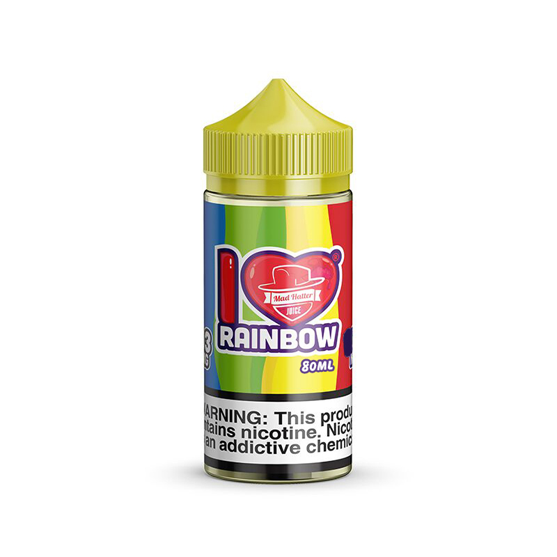 I Love Candy Rainbow 80ml Eliquid Shortfill By Mad Hatter Juice