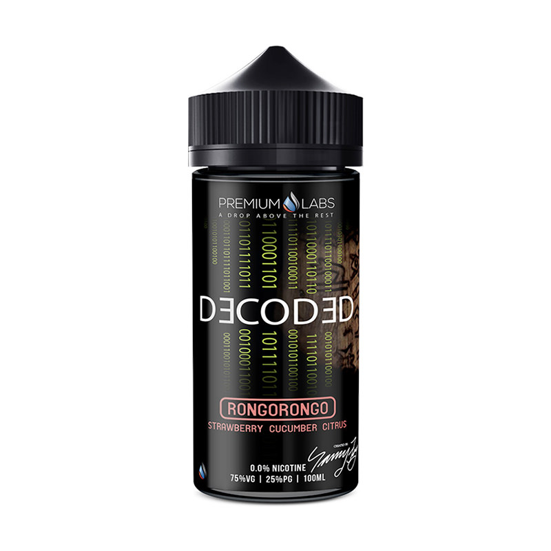 Rongorongo 100ml Eliquid Shortfills By Decoded