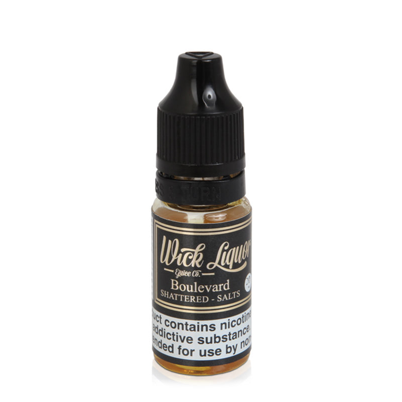 Boulevard satricināja nikotīna sāls Eliquid By Wick Liquor