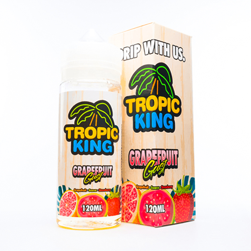 Greipfrūtu Gust 100ml Eliquid Shortfill By Tropic King