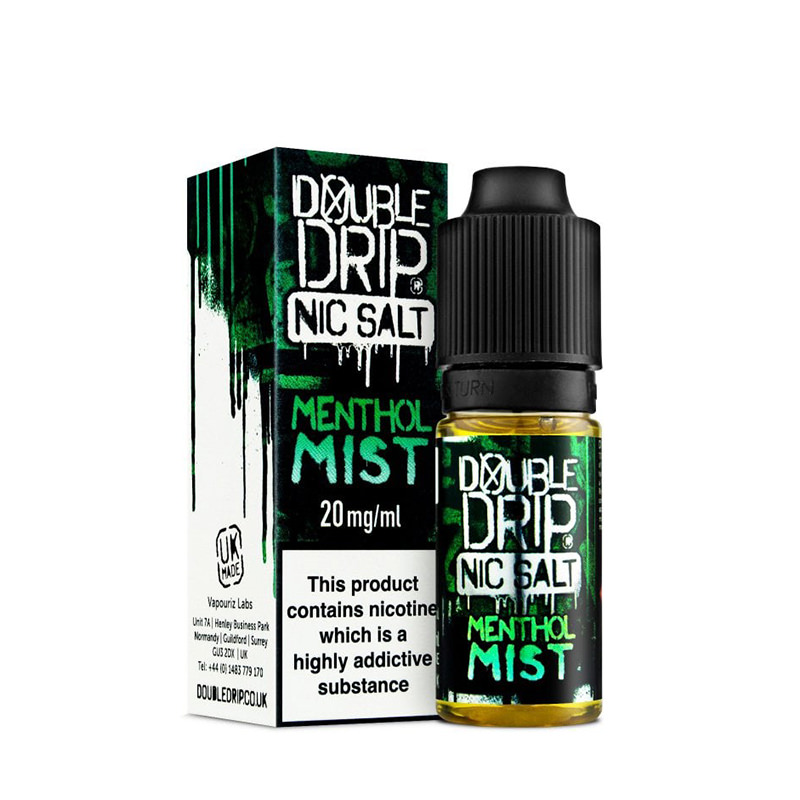 Menthol Mist 10ml Nicotine Salt Eliquid By Double Drip Coil Sauce