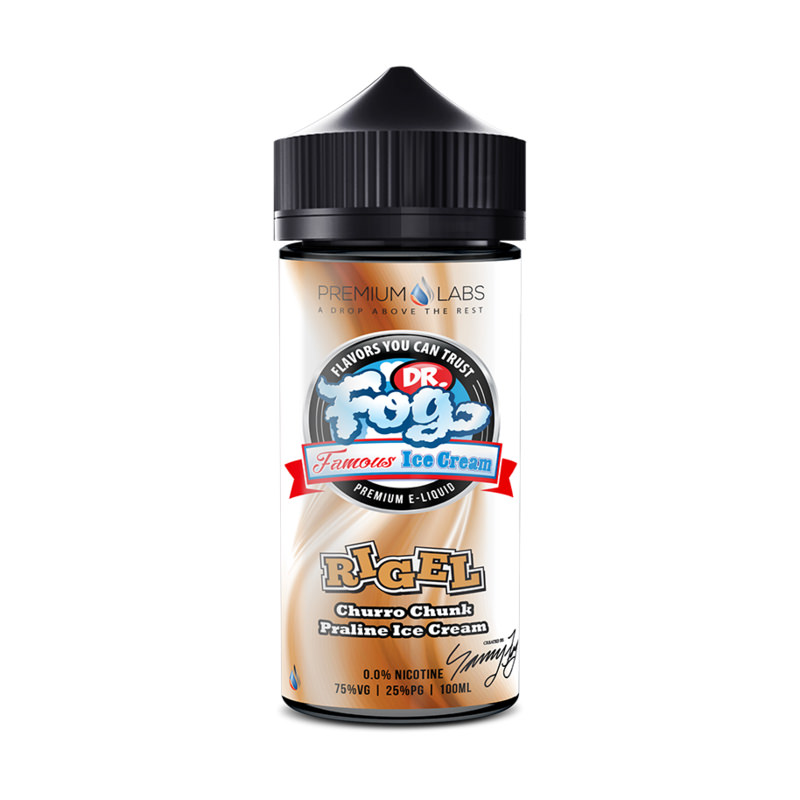 Rigel 100ml Eliquid Shortfills By Dr Frost Famous Ice Cream