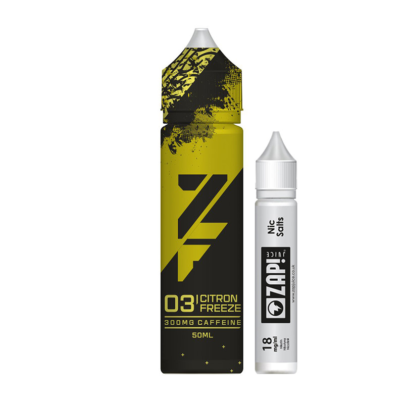03 Citron Freeze 50 ml eliquid Shortfills By Zfuel Zap Juice