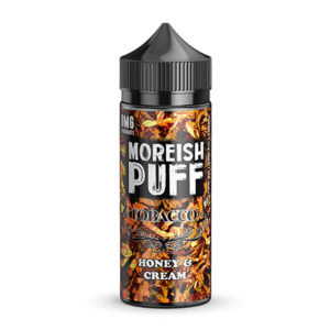 Honing en room 100 ml eliquid Shortfills By Moreish Puff Tobacco
