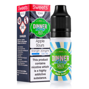 A Apple Sours 10ml - Eliquid de sal de nicotina da Dinner Lady Sais