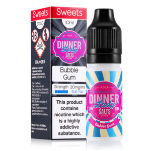 Bubble Gum 10ml Nicotine Salt Eliquid By Dinner Lady salte