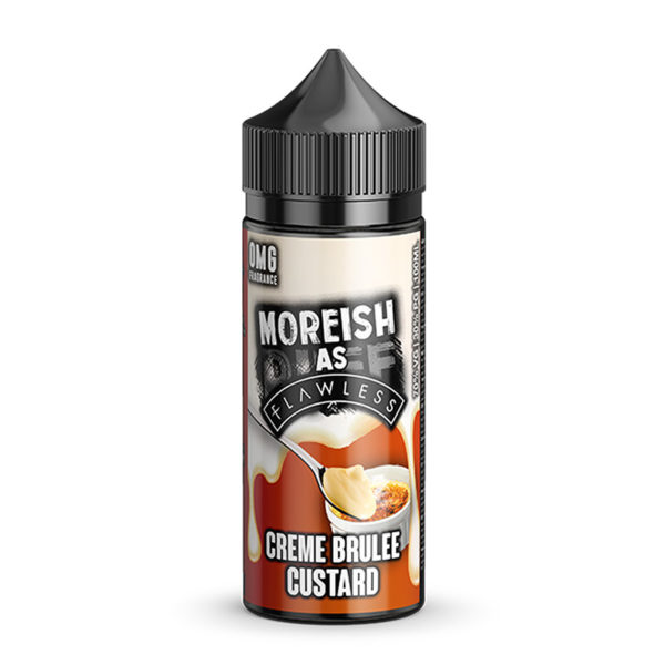 Creme Brulee Custard 100ml Eliquid Shortfills By Moreish As Flawless Custard