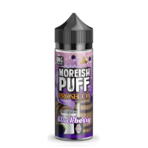 moreish puff prosecco blackberry 100ml eliquid shortfill steklenica