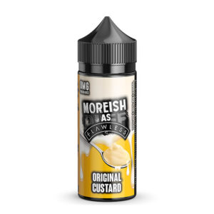 Custard 100ml Eliquid Original Shortfills By Moreish As Flawless Custard