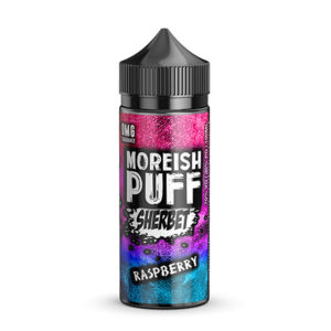 Hindber 100ml fljótandi Shortfills By Moreish Puff Sherbet