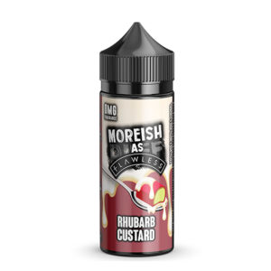 Rabarbara Custard 100ml fljótandi Shortfills By Moreish As Flawless Custard