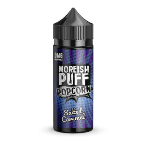 Saltet karamel 100 ml eliquid Shortfill By Moreish Puff Popcorn