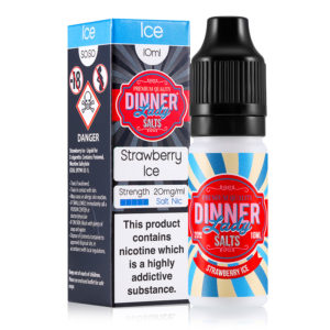 Strawberry Ice 10ml Nicotine Salt Eliquid By Dinner Lady Zouten