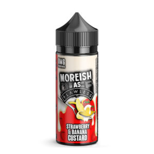 Strawberry And Banana Custard 100ml Eliquid Shortfills By Moreish As Flawless Custard