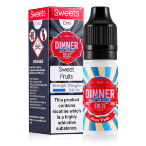 Zoet fruit 10ml Nicotine zout eliquid door Dinner Lady