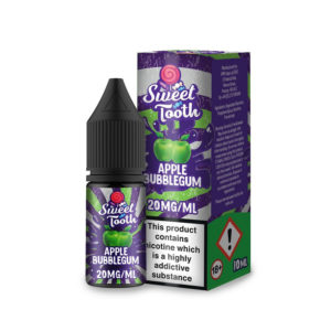 Apple Bubblegum Nicotine Salt Eliquid By Sweet Tooth