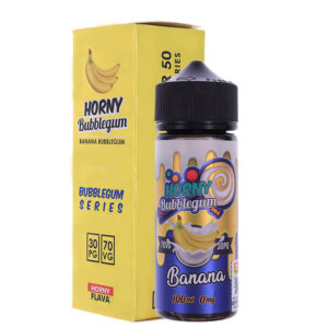 Banane Bubblegum 100ml Eliquid Shortfills De Horny Bubblegum série
