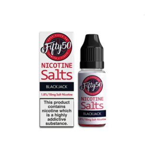 Black Jack 10ml Nicotine Salt Eliquid By Fifty50 Nicotine Salts