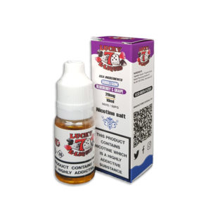 Bubblegum Blueberry And Grape Nicotine Salt Eliquid By Lucky 7 Eliquid Salts