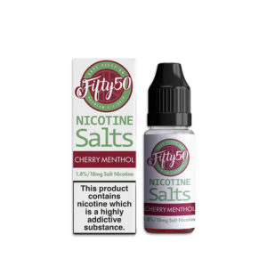 Cherry Menthol 10ml Nicotine Salt Eliquid By Fifty50 Nikotinsalte