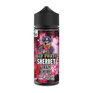 Eliquid Crazy Cherry 100ml Shortfills By Old Pirate Sherbet