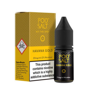 Havana Gold 10ml Nikotín Salt Eliquids By Pod Salt Core safn