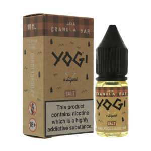 Java Granola Bar 10ml Nikotinsalt Eliquid By Yogi Salt 1