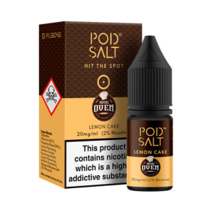 Lemon Cake Nicotine Salt Eliquid By Vapers Oven Pod Salt Fusions